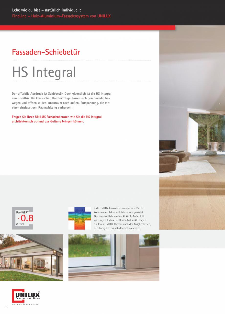 Pagina 12 - Pereti cortina profile structurale UNILUX FINE LINE  Catalog, brosura Germana Grad...