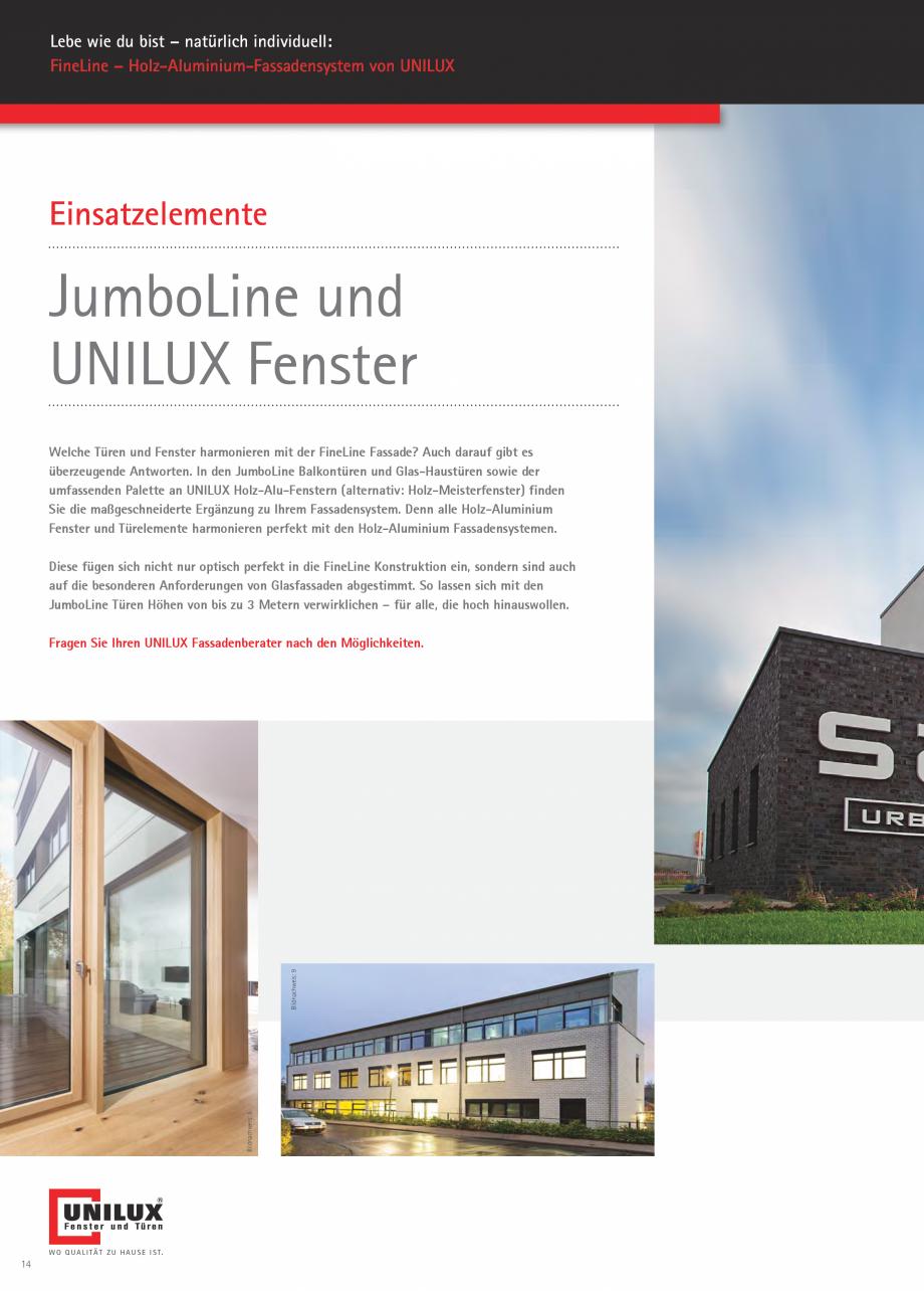Pagina 14 - Pereti cortina profile structurale UNILUX FINE LINE  Catalog, brosura Germana sigkeit: ...