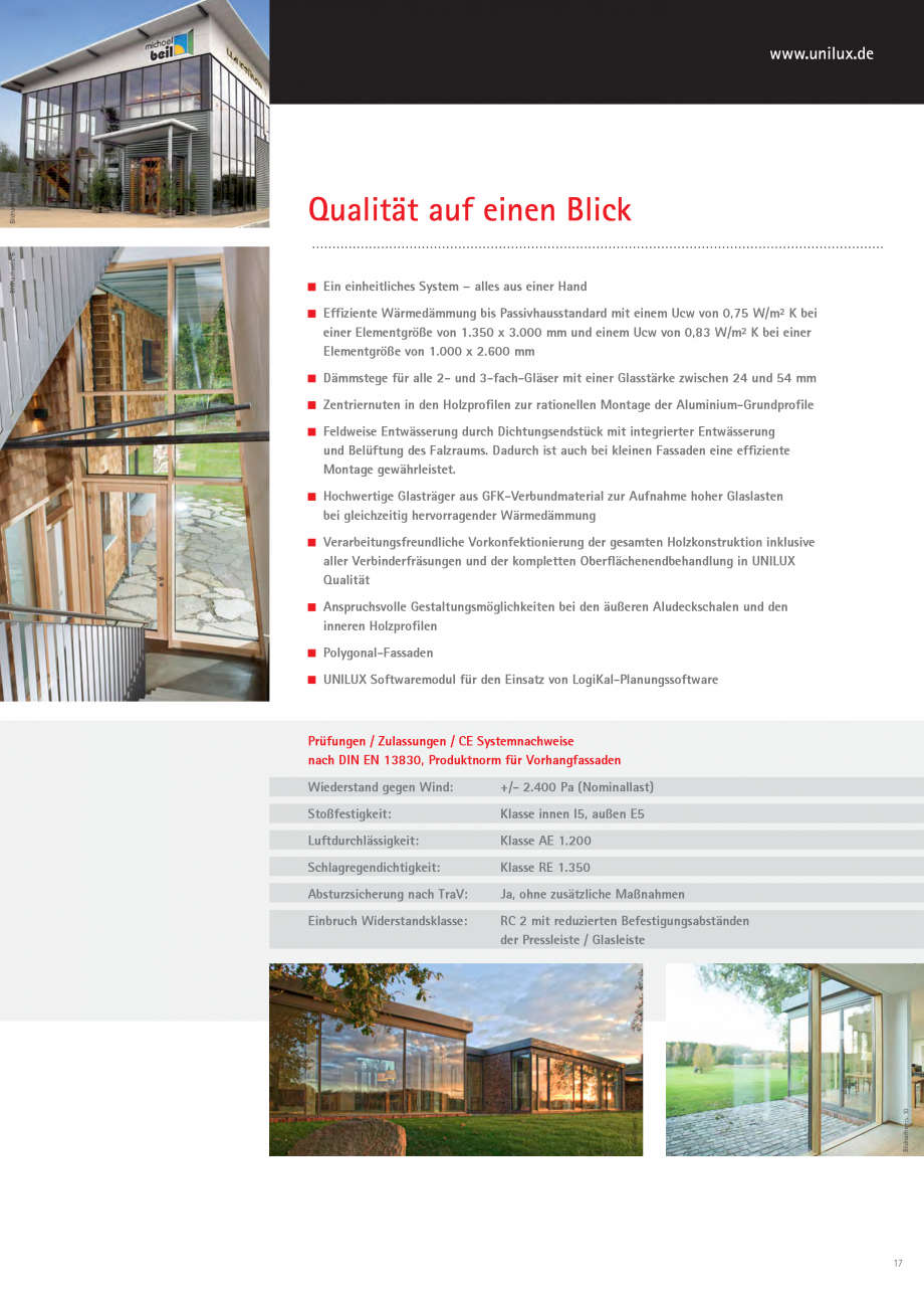 Pagina 17 - Pereti cortina profile structurale UNILUX FINE LINE  Catalog, brosura Germana...