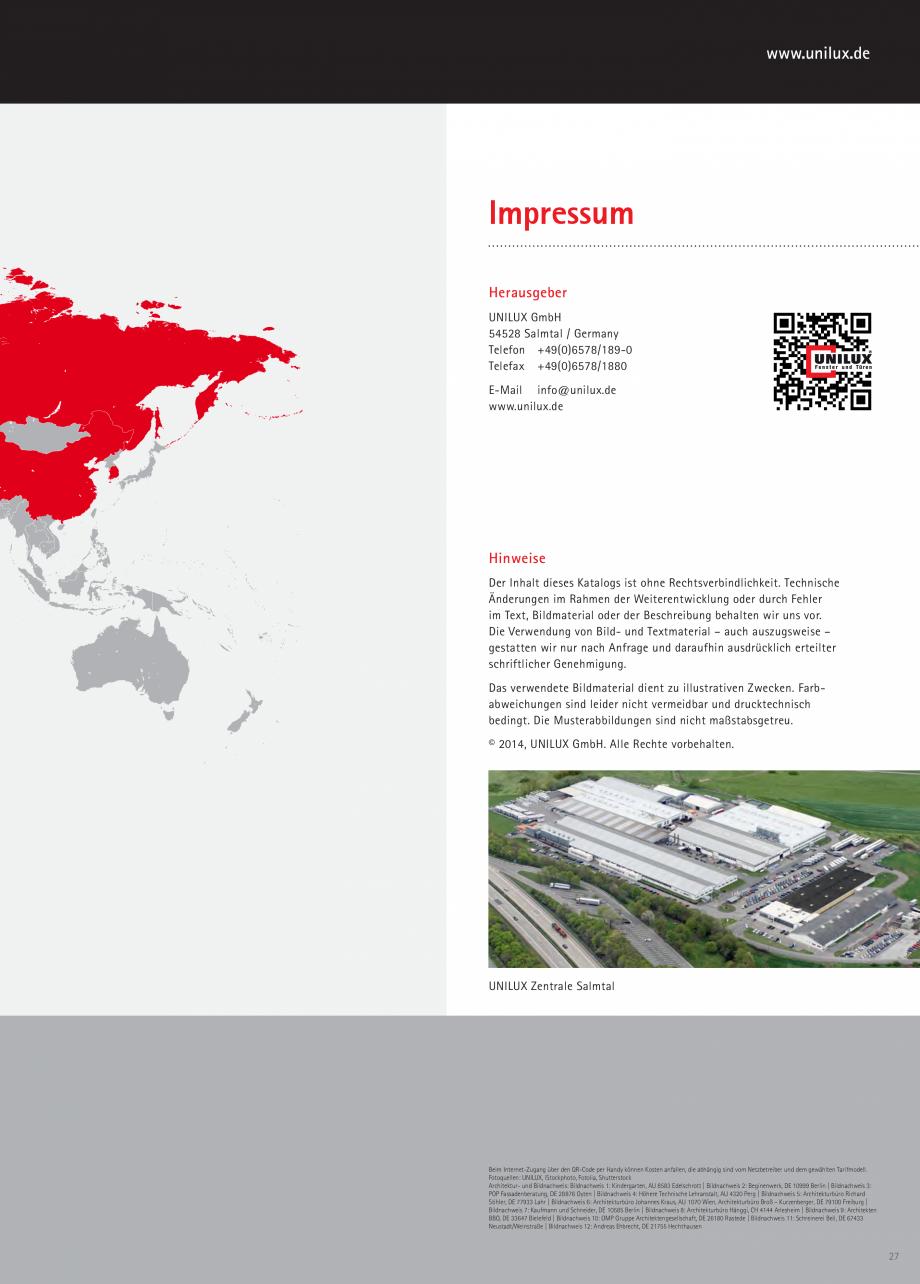 Pagina 27 - Pereti cortina profile structurale UNILUX FINE LINE  Catalog, brosura Germana