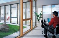 Pereti cortina profile structurale Cu profilul izolator Clima Protect sistemul Fineline este capabil sa atinga standardul de casa pasiva, atat in sandwish de sticla dublu cat si in sandwish de sticla triplu de pana la 48 mm.