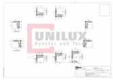 Ferestre din lemn placat cu aluminiu - Detaliu post fix UNILUX