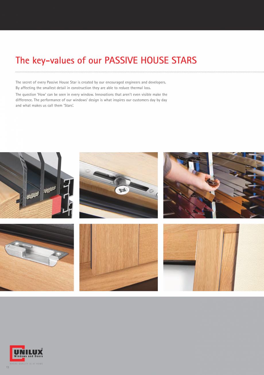 Pagina 13 - Ferestre din lemn UNILUX DesingLine Privacy Catalog, brosura Engleza ptions for design...