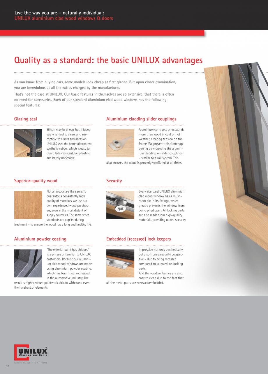 Pagina 18 - Ferestre din lemn UNILUX DesingLine Privacy Catalog, brosura Engleza an also have...
