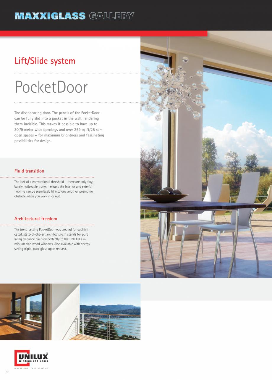 Pagina 30 - Ferestre din lemn UNILUX DesingLine Privacy Catalog, brosura Engleza cketDoor can be...