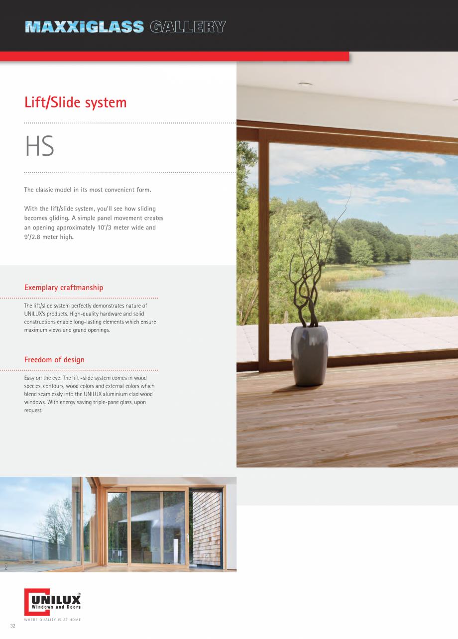 Pagina 32 - Ferestre din lemn UNILUX DesingLine Privacy Catalog, brosura Engleza threshold  Shared...