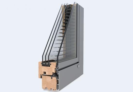 Ferestre din lemn placat cu aluminiu - DesignLine Privacy UNILUX