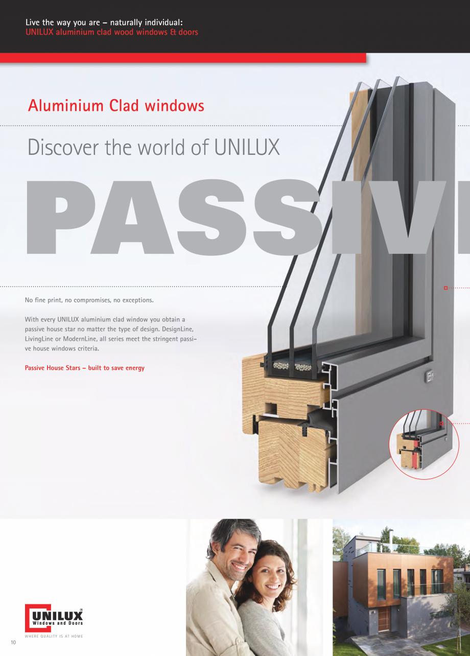 Pagina 10 - Usi de terasa UNILUX JUMBOLINE Catalog, brosura Engleza  is easy with the aluminium clad...
