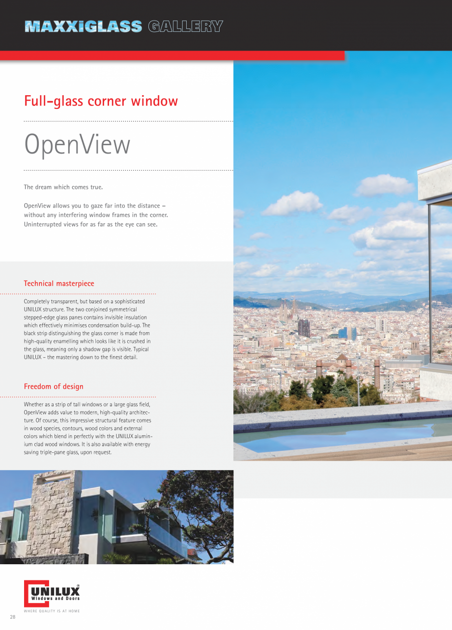 Pagina 28 - Usi de terasa UNILUX JUMBOLINE Catalog, brosura Engleza also available as lockable...