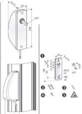 Sistem inlocuire maner actionare ferestre UNILUX
