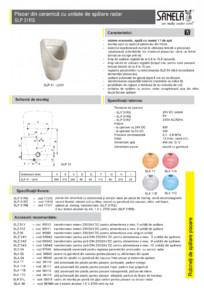 Pisoar din ceramica cu unitate de spalare radar SANELA