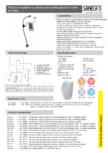 Robinet de spalare cu senzor radar pentru pisoar D-Code SANELA - SLP 54RS, SLP 54RZ
