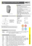 Pisoar din ceramica cu unitate de spalare radar SANELA - SLP 59RZ, SLP 59RS, SLP 59RB