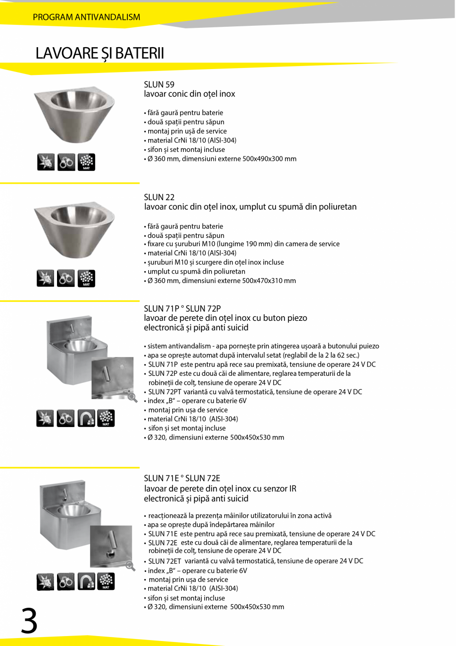 Pagina 4 - Catalog produse antivandalism SANELA SLD 04, SLR 01, SLR 01L, SLR 01R, SLR 02, SLR 02D,...