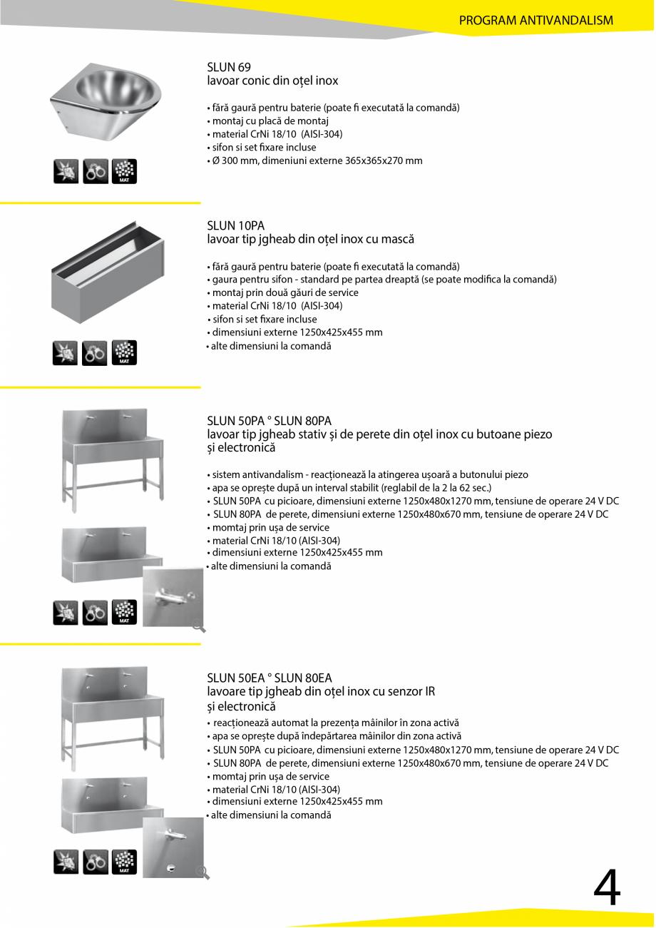 Pagina 5 - Catalog produse antivandalism SANELA SLD 04, SLR 01, SLR 01L, SLR 01R, SLR 02, SLR 02D,...