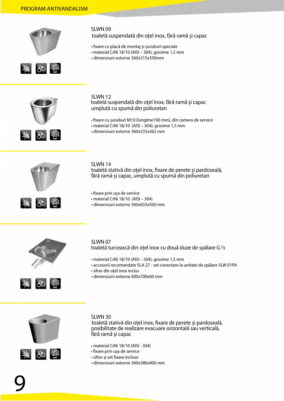 Pagina 10 - Catalog produse antivandalism SANELA SLD 04, SLR 01, SLR 01L, SLR 01R, SLR 02, SLR 02D, ...