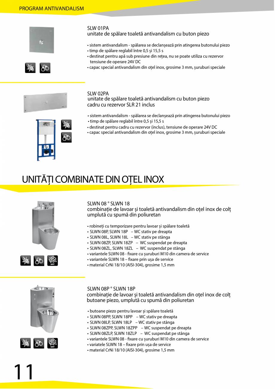 Pagina 12 - Catalog produse antivandalism SANELA SLD 04, SLR 01, SLR 01L, SLR 01R, SLR 02, SLR 02D, ...