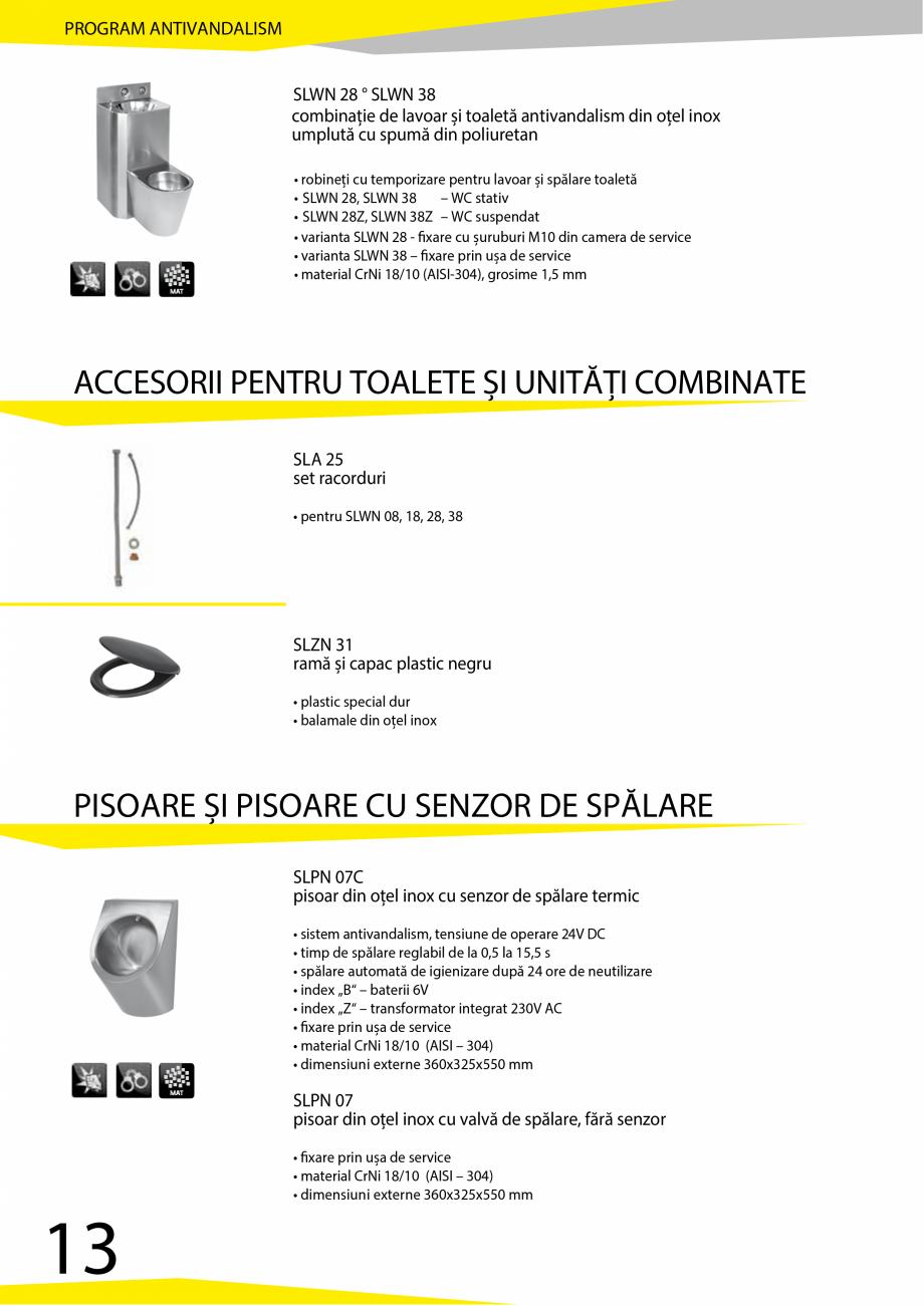 Pagina 14 - Catalog produse antivandalism SANELA SLD 04, SLR 01, SLR 01L, SLR 01R, SLR 02, SLR 02D, ...