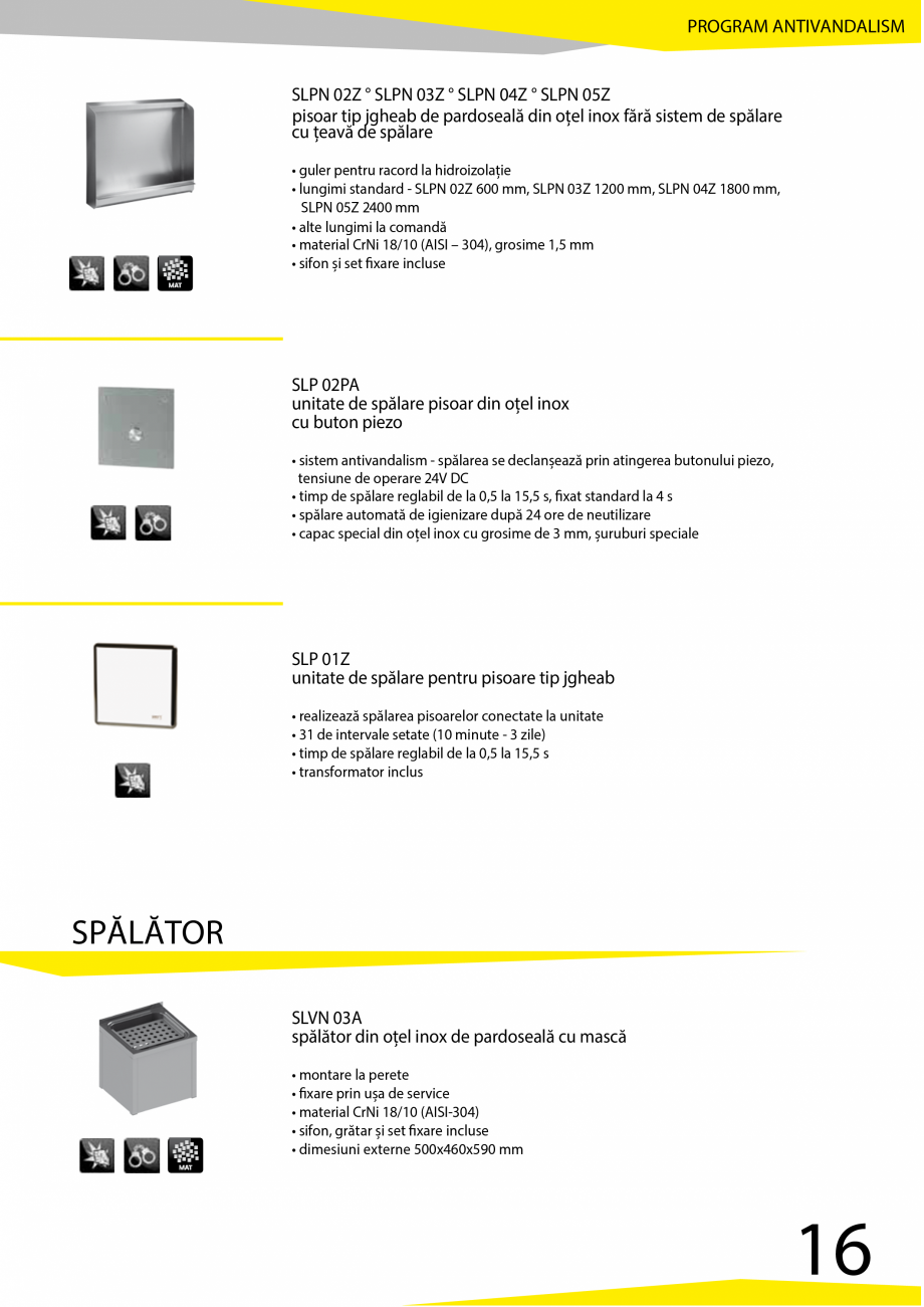 Pagina 17 - Catalog produse antivandalism SANELA SLD 04, SLR 01, SLR 01L, SLR 01R, SLR 02, SLR 02D, ...