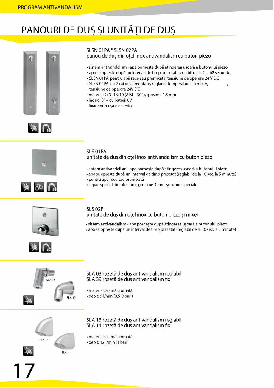 Pagina 18 - Catalog produse antivandalism SANELA SLD 04, SLR 01, SLR 01L, SLR 01R, SLR 02, SLR 02D, ...