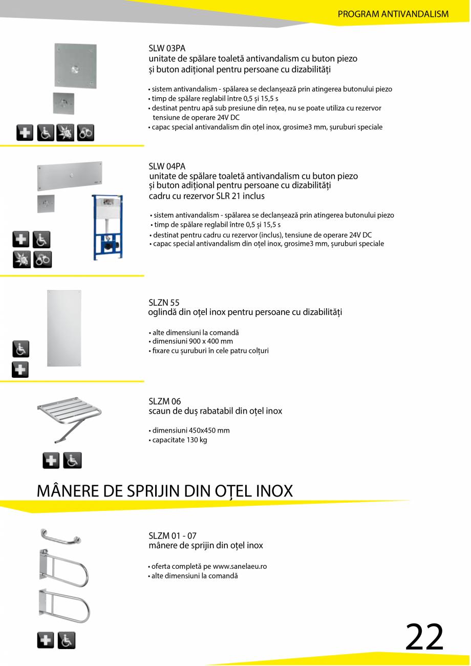 Pagina 23 - Catalog produse antivandalism SANELA SLD 04, SLR 01, SLR 01L, SLR 01R, SLR 02, SLR 02D, ...