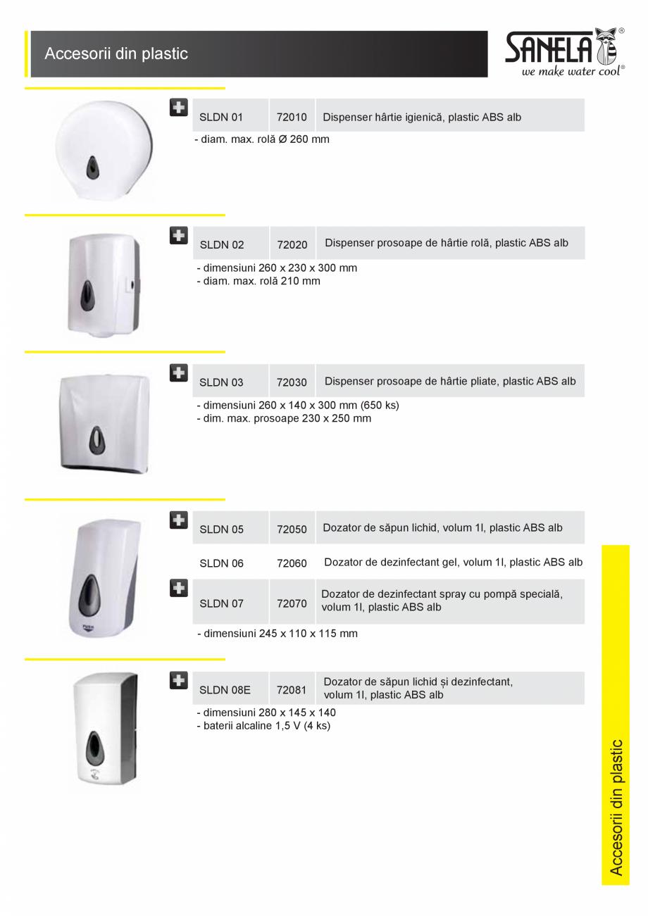 Pagina 1 - Accesorii din plastic SANELA SLDN 01, SLDN 02, SLDN 03, SLDN 05, SLDN 06, SLDN 07, SLDN...