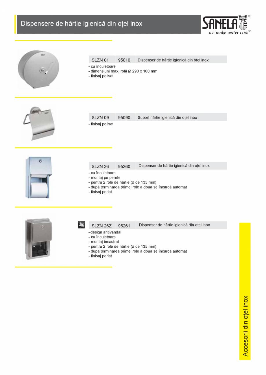 Pagina 1 - Dispensere hartie igienica SANELA SLZN 01, SLZN 09, SLZN 26, SLZN 26Z, SLZN 26Z , SLZN 37...