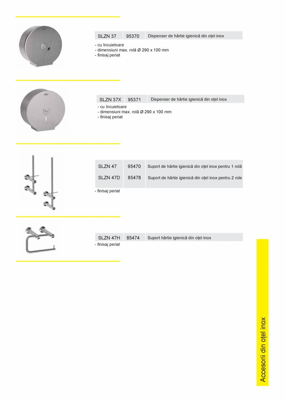 Pagina 2 - Dispensere hartie igienica SANELA SLZN 01, SLZN 09, SLZN 26, SLZN 26Z, SLZN 26Z , SLZN 37...