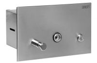 Accesorii din otel inox si plastic pentru bai si grupuri sanitare SANELA ofera o gama variata de accesorii din otel inox: uscatoare de maini; dispensere de hartie igienica; dispensere, dozatoare pentru prosoape de hartie; dozatoare de sapun lichid, cosuri de gunoi.
