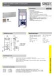 Unitati de spalare toalete cu buton piezo SANELA - SLW 04PA