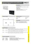 Clapeta de actionare din sticla cu senzor capacitiv pentru cadru SANELA - SLW 30A / E/ F