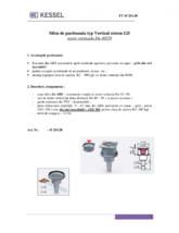 Sifon de pardoseala typ Vertical sistem 125 iesire verticala Dn 40/50 KESSEL