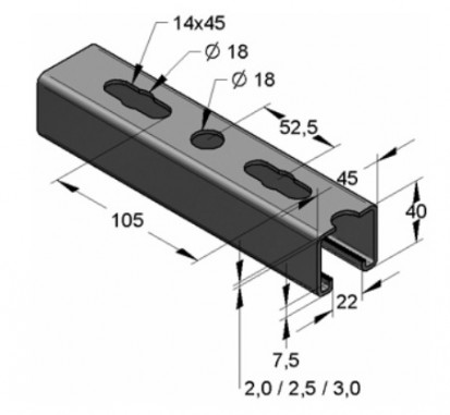 Sine - sisteme de montaj cu sine profilate Sisteme de fixare si montaj pentru instalatii
