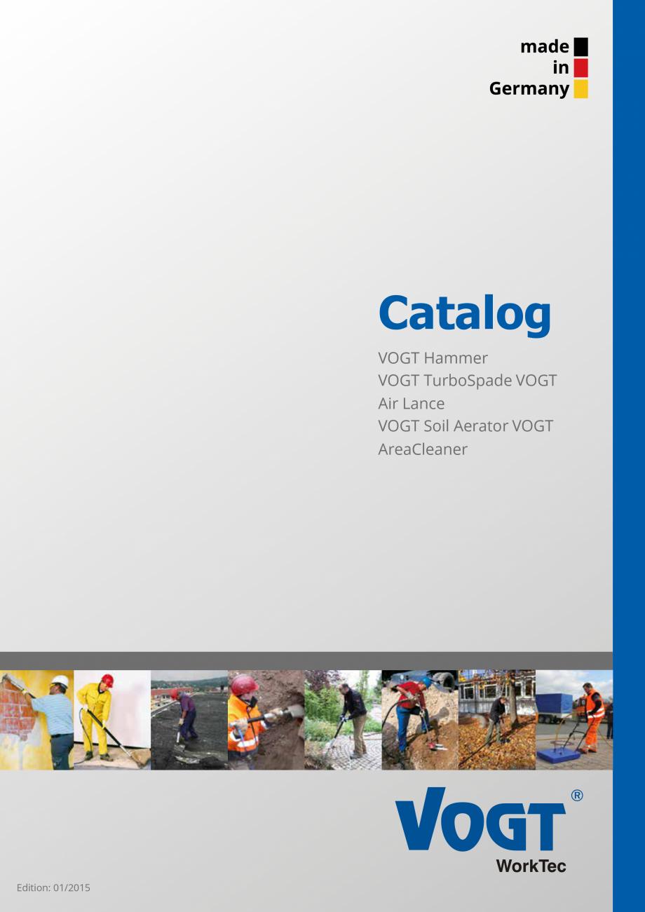Pagina 1 - Catalog produse VOGT 2015 VOGT Catalog, brosura Engleza Catalog VOGT Hammer VOGT...