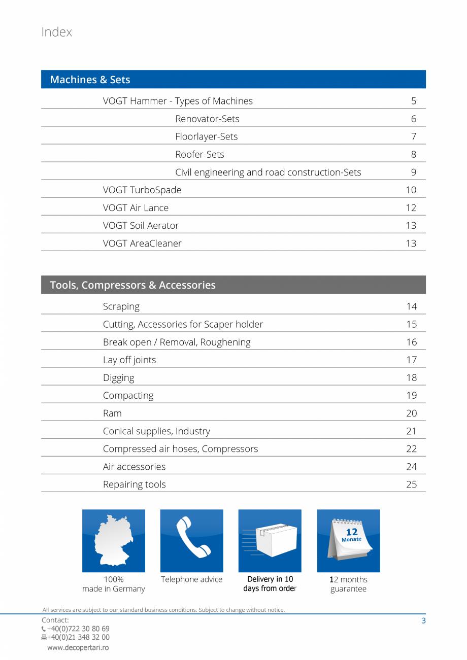 Pagina 3 - Catalog produse VOGT 2015 VOGT Catalog, brosura Engleza r VH 60.18  the low vibration...