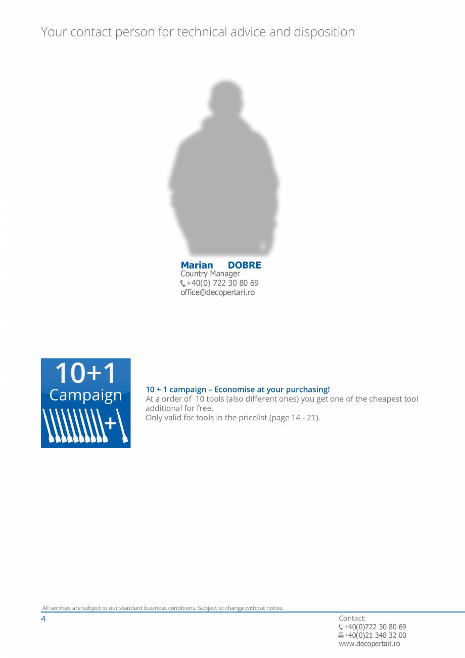 Pagina 4 - Catalog produse VOGT 2015 VOGT Catalog, brosura Engleza 5,6 kg  VH 60-110.18 110 cm 6,0...
