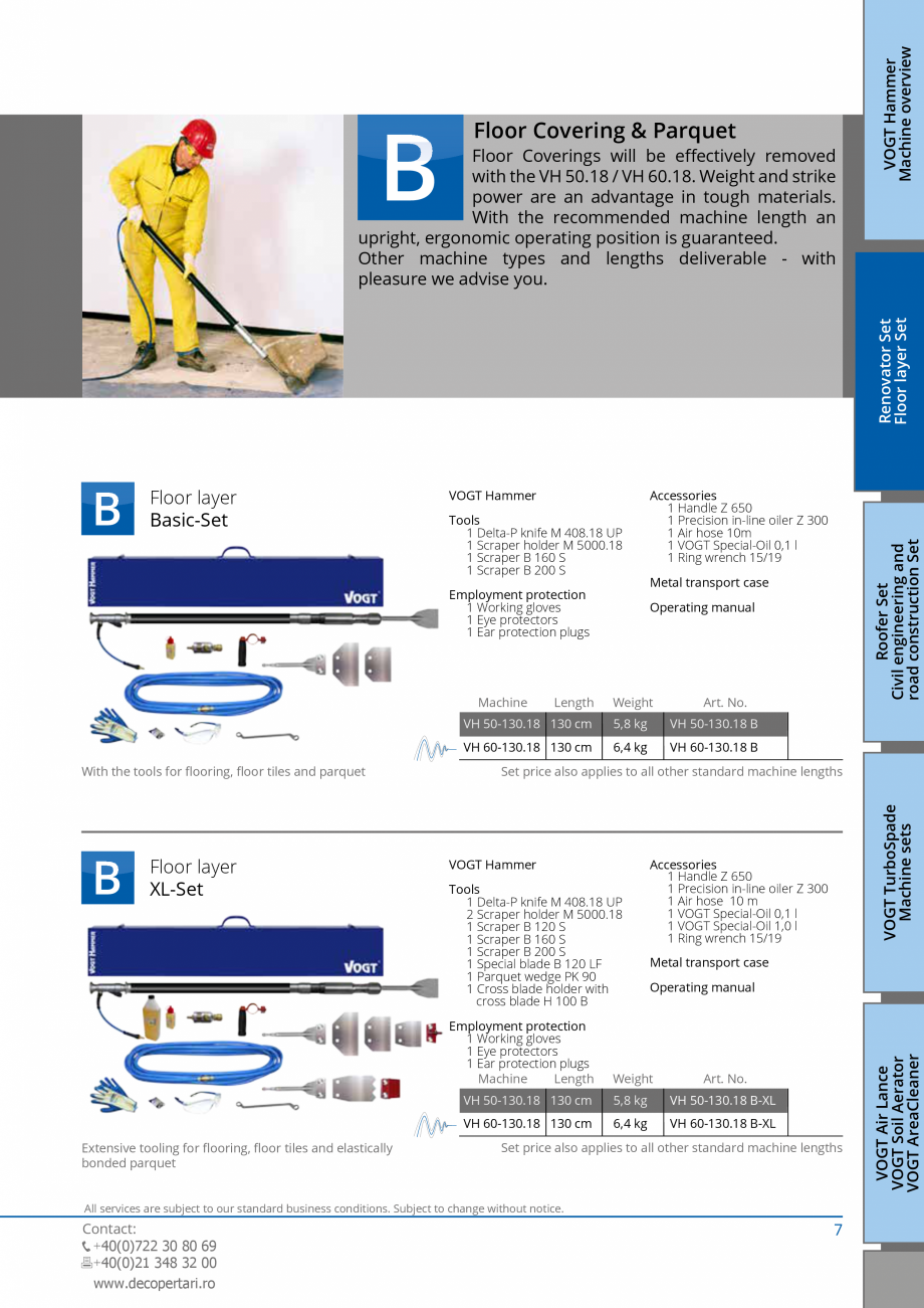 Pagina 7 - Catalog produse VOGT 2015 VOGT Catalog, brosura Engleza g & Parquet  Tools 1 Delta-P...