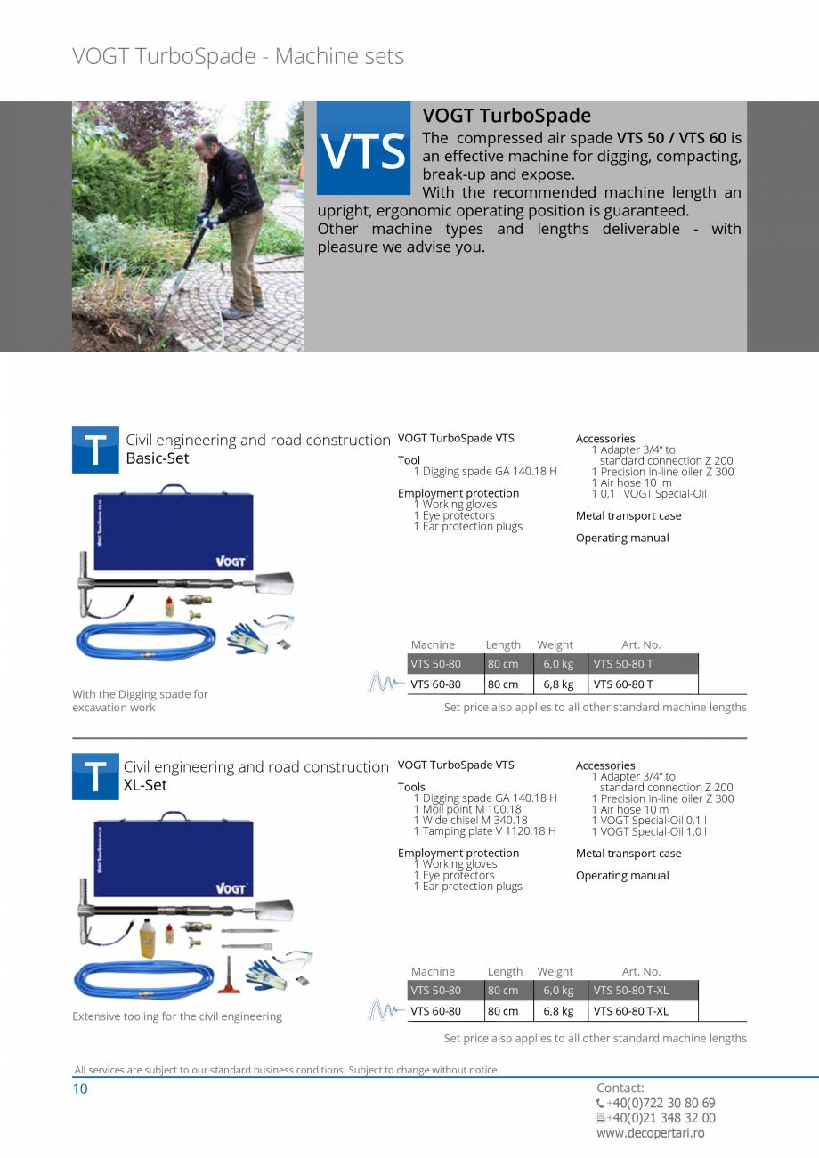Pagina 10 - Catalog produse VOGT 2015 VOGT Catalog, brosura Engleza ation  Length  VH 50-130.18 130 ...