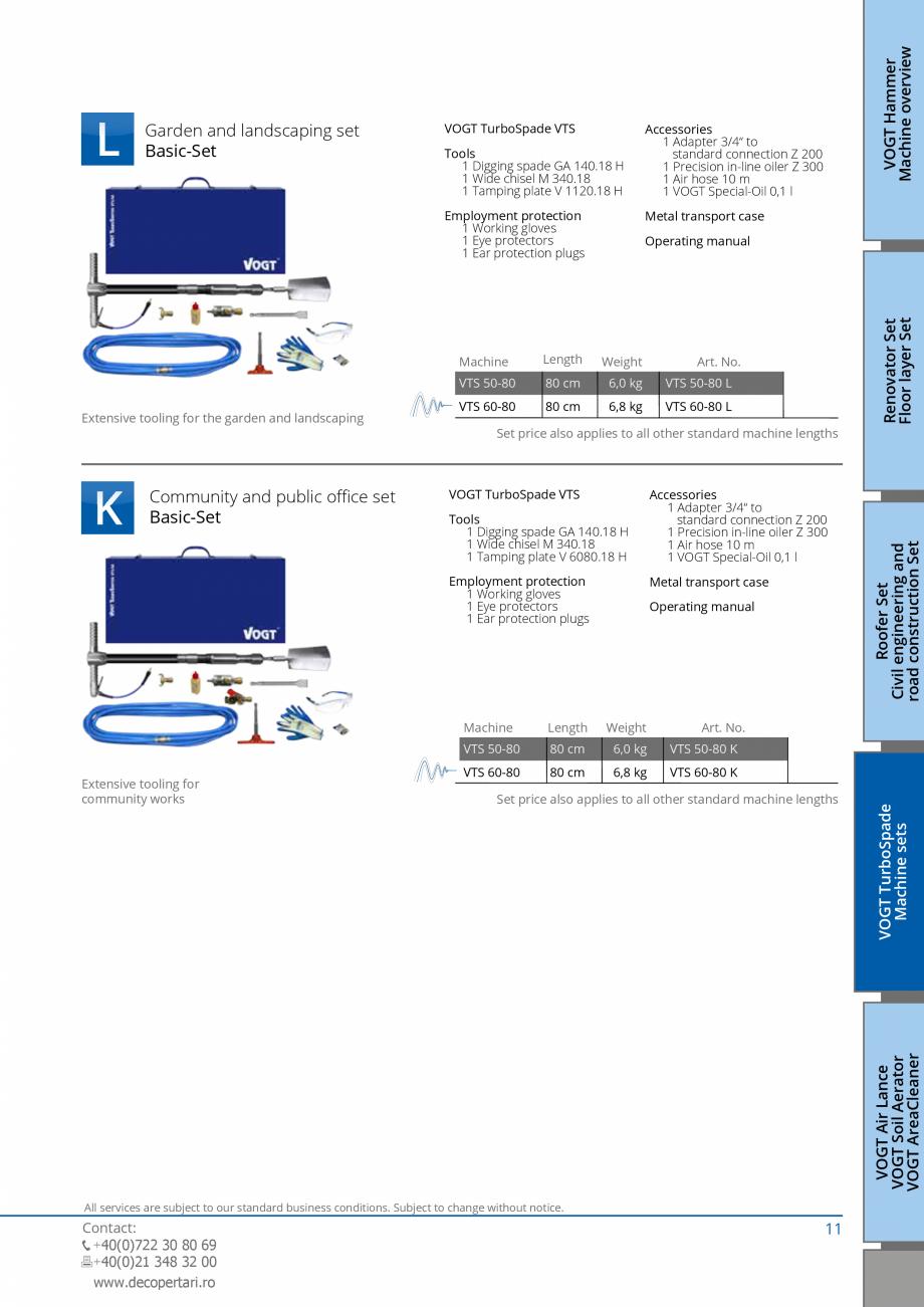 Pagina 11 - Catalog produse VOGT 2015 VOGT Catalog, brosura Engleza ployment protection 1 Working...