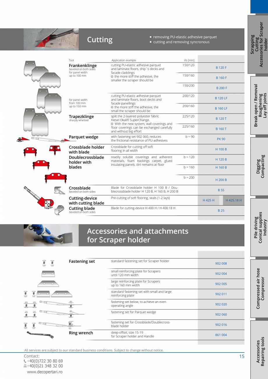 Pagina 15 - Catalog produse VOGT 2015 VOGT Catalog, brosura Engleza 0 1 Air hose 10 m 1 VOGT...