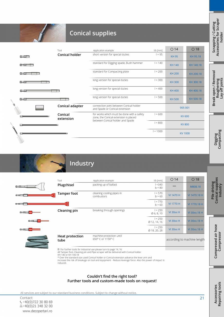 Pagina 21 - Catalog produse VOGT 2015 VOGT Catalog, brosura Engleza 00.18 B 50 S B 70 S B 100 S B...