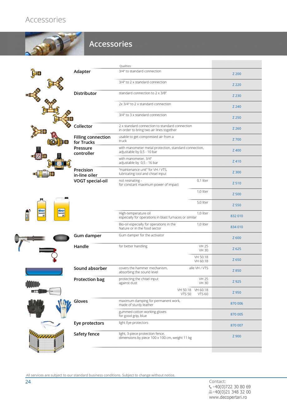 Pagina 24 - Catalog produse VOGT 2015 VOGT Catalog, brosura Engleza btragenƒ ƒ cutting and...