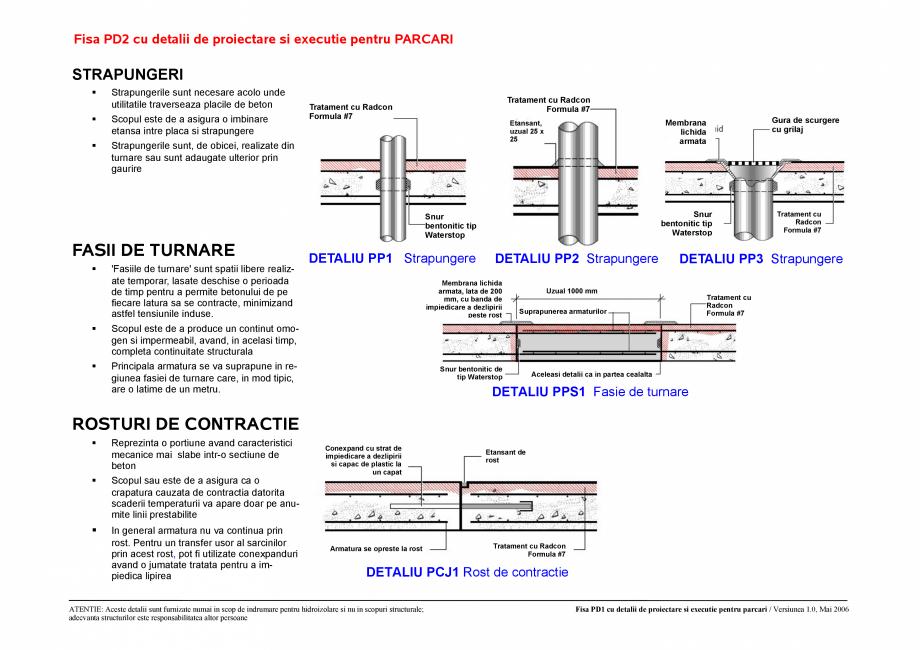 Pagina 2 - CAD-PDF Fisa PD1 /PD2 cu detalii de proiectare si executie pentru parcari UNICO PROFIT...