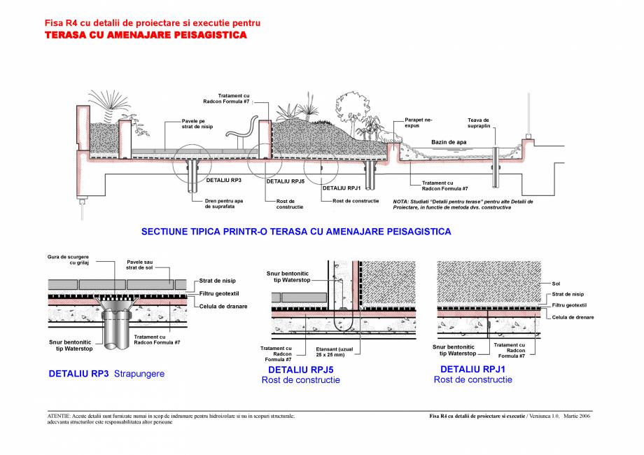 Pagina 1 - CAD-PDF Fisa R4 cu detalii de proiectare si executie pentru terasa cu amenajare...
