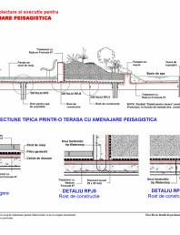 Fisa R4 cu detalii de proiectare si executie pentru terasa cu amenajare peisagistica