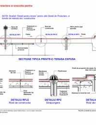 Fisa R1 cu detalii de proiectare si executie pentru terasa expusa