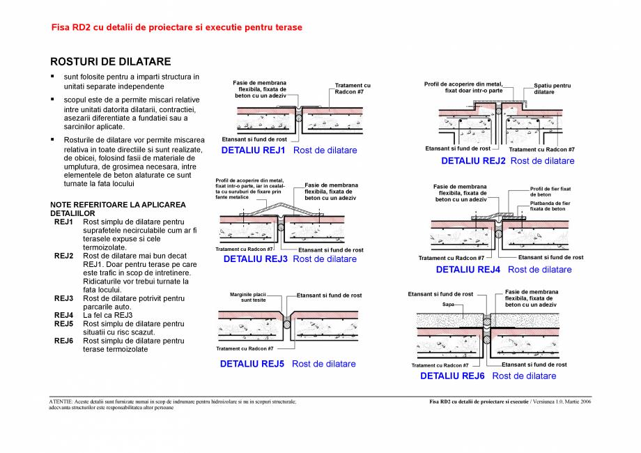 Pagina 2 - CAD-PDF Fisa RD cu detalii de proiectare si executie pentru terase UNICO PROFIT Detaliu...