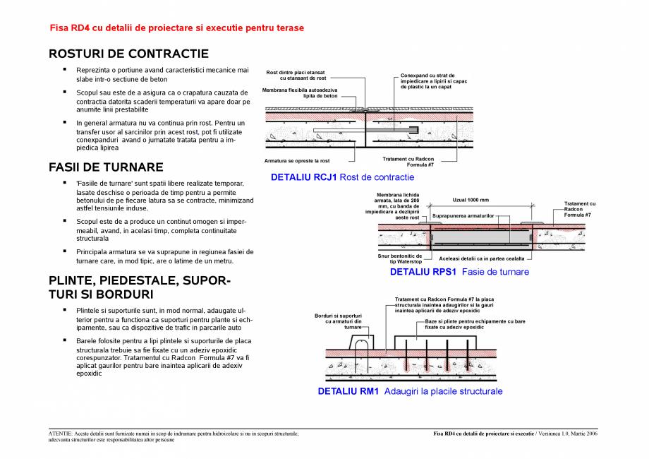 Pagina 4 - CAD-PDF Fisa RD cu detalii de proiectare si executie pentru terase UNICO PROFIT Detaliu...