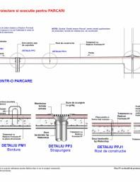 Fisa P1 cu detalii de proiectare si executie pentru parcari