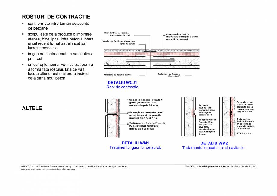 Pagina 3 - CAD-PDF Fisa WD1 cu detaliile de proiectare si executie pentru rezervoare de apa UNICO...